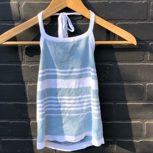 BRANDY MELVILLE BLUE AND WHITE HALTER